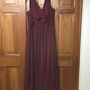 Perfect condition formal burgundy Azazaie dress